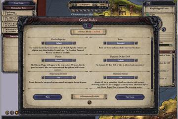 Crusader Kings 2'ye Yeni Oyun Ayarları