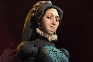 Civilization VI'da Fransa'yı Catherine de Medici Yönetiyor