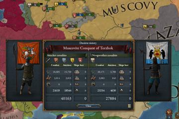 Europa Universalis IV : Savaş Sonu Ekranı ve Minimap