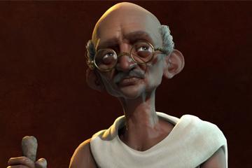 Civilization VI'da Hindistan'ı Mahatma Gandhi Yönetiyor