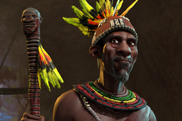 Civilization VI'da Kongo'yu Mvemba a Nzinga Yönetiyor