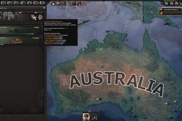 Hearts of Iron IV'e Avustralya Odak Ağacı ve Teknoloji Paylaşımı