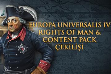 Europa Universalis IV: Rights of Man ve Content Pack Çekilişi