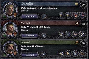 Crusader Kings II: Konsey Üyelerine Yeni Görevler