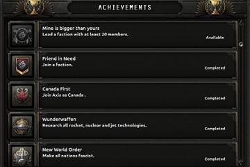 Hearts of Iron IV : Together for Victory Başarımları