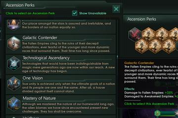 Stellaris – Ascension Perk Mekaniği ve Tür İlerlemeleri