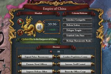 Europa Universalis IV'te Çin İmparatorluğu