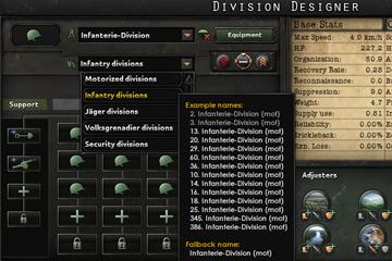 Hearts of Iron IV'da Tümen İsim Listeleri