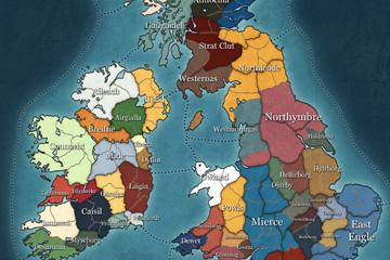 Thrones of Britannia'nın Senaryo Haritası