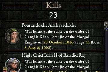 Crusader Kings II'de Ölüm Listesi