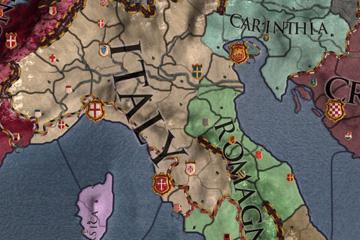Crusader Kings II'de İtalya ve Alpler Harita Değişiklikleri