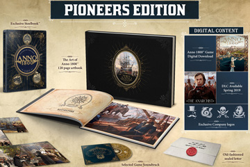 Anno 1800'de Digital Deluxe ve Pioneers Collector Sürümleri