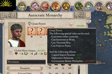 Imperator: Rome'da Ülke Kademeleri