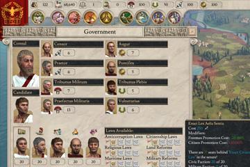 Imperator: Rome'da Makamlar ve Yasalar
