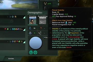 Stellaris'te Gezegen Sistemi Değişikliği 3/4: İstikrar, Mutluluk, Suç ve Lüksler