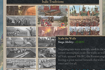 Imperator: Rome'da İtalik Askeri Gelenekleri
