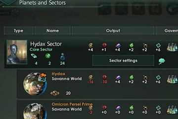 Stellaris'te Sektör ve Parti Değişiklikleri
