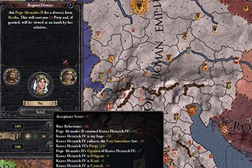 Crusader Kings II'de Papalık Etkileşimlerinde Değişiklikler