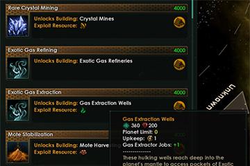 Stellaris'te Le Guin Yamasında Yeni Gelen ve Değişen Teknolojiler