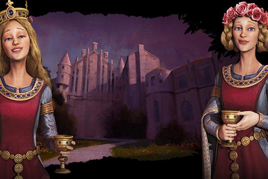 Civilization VI'da Fransa ve İngiltere'ye Akitanya Düşesi Eleanor Liderlik Ediyor