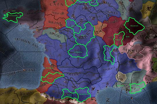 Europa Universalis IV'te Fransa ve İtalya Bölgelerindeki Olası Değişiklikler