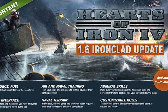 "Hearts of Iron IV – 1.6 ""Ironclad"" Yama Notları"