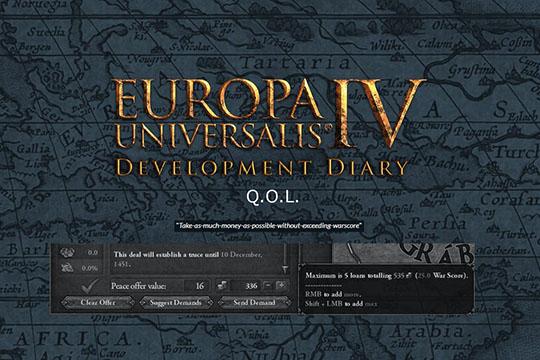 Europa Universalis IV'te Yaşam Kalitesi Önerileri ve Değişiklikleri