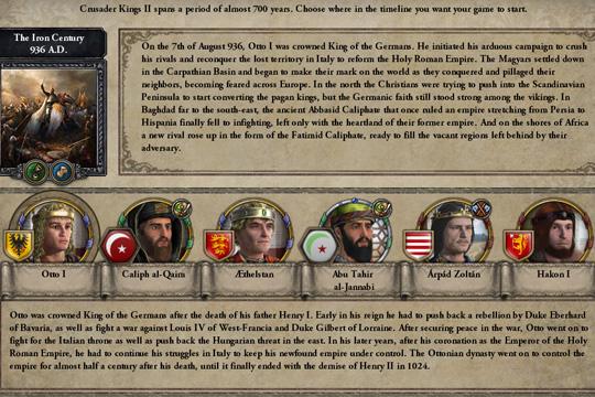 Crusader Kings II – Iron Century'deki Önerilen Karakterler