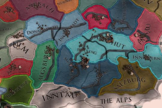 Europa Universalis IV'te Almanya'da Harita Değişiklikleri ve Yeni Ülkeler