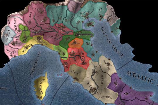 Europa Universalis IV'te İtalya'daki Harita Değişiklikleri ve Yeni Ülkeler