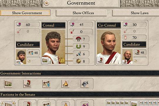 Imperator: Rome'da Eş Konsüller, Hükümet Yetenekleri ve Güç Potansiyeli
