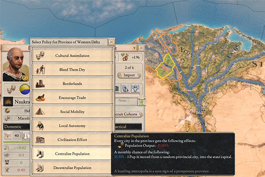 Imperator: Rome'da 1.1 Pompey Yamasındaki Arsa Değişiklikleri ve Yeni Komplo Özelliği