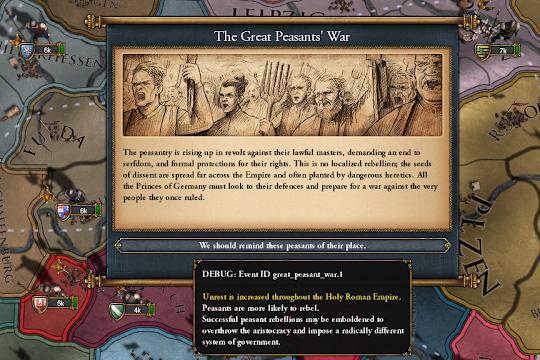 Europa Universalis IV'te Prusya'daki Kral ve Alman Köylü Savaşı