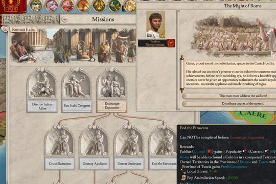 Imperator'da Roma Görevleri