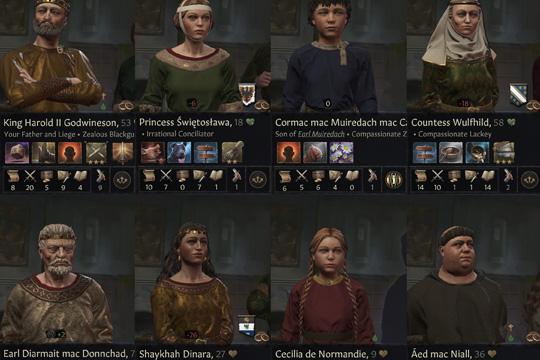 Crusader Kings III'te Karakterler ve Portreler
