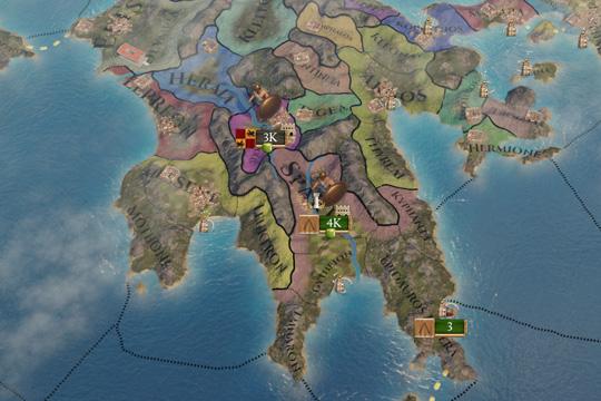 Imperator: Rome'da Sparta ve Atina Görev Ağaçları