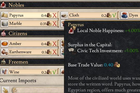 Imperator'da Vasal İlerleme ve Ticaret Değişiklikleri