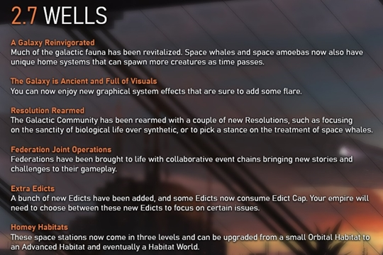 """Stellaris'te 2.7.0 """"Wells"""" Yama Notları"""