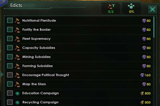 Stellaris'te Genelge Değişiklikleri