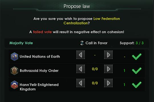 Stellaris'te Federasyon İyileştirmeleri