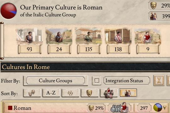 Imperator'da Kültür Bütünleşmesi ve Kültür Kararları