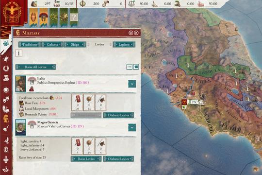 Imperator: Rome'da Milis Kuvvetleri