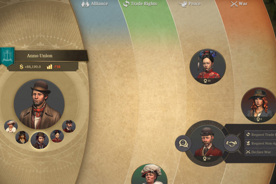 Anno 1800'de Diplomasi