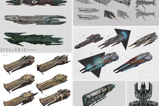 Stellaris'te Necroid Gemi Tasarımları