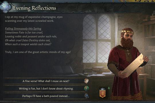 Crusader Kings III'te Şair Özelliği ve Şiirler